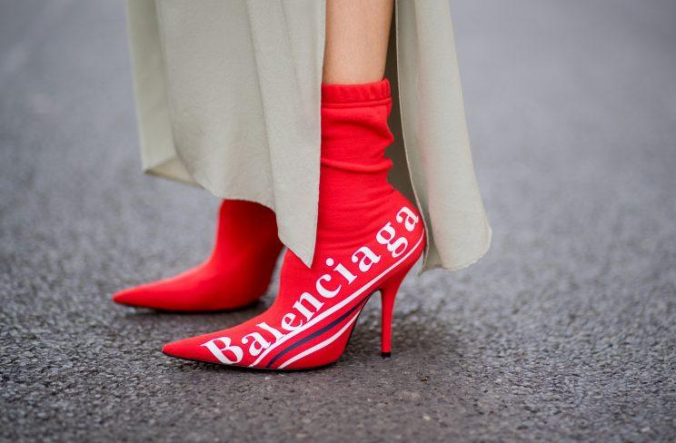 Sock-Boots mit Brand Logo (Getty Images)