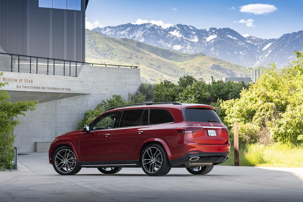 """<p><a href=""""https://www.caranddriver.com/mercedes-benz/gls-class"""">The 2020 Mercedes-Benz GLS</a> is the big daddy of the company's SUV lineup, offering seating for up to seven, an available V-8, and an optional active suspension system. Read the full story <a href=""""https://www.caranddriver.com/reviews/a28150993/2020-mercedes-benz-gls-drive/"""" target=""""_blank"""">here</a>.</p>"""