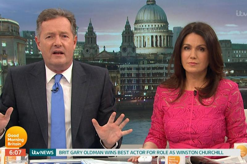 Slammed: Piers Morgan berated Gary Oldman for not mentioning Great Britain: ITV