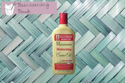 """<div class=""""caption-credit""""> Photo by: Hollywood Beauty</div><p> <b>Maintaining Take-Out Option</b> <br> Try Hollywood Beauty Mayonnaise Moisturizing Crème Oil with Egg Protein for Ends That Bend Not Break ($8) , Amazon </p> <p> <a href=""""http://www.youbeauty.com/hair/hair-color-skintone"""" rel=""""nofollow noopener"""" target=""""_blank"""" data-ylk=""""slk:MORE: Hair Color and Your Skintone"""" class=""""link rapid-noclick-resp""""><b>MORE:</b> Hair Color and Your Skintone</a> </p>"""