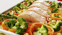 """<p>Who doesn't love a good one-tray dinner? This pineapple salmon variety is insanely delicious, and couldn't be easier.</p><p>Get the <a href=""""https://www.delish.com/uk/cooking/recipes/a29771277/pineapple-salmon-sheet-pan-dinner-recipe/"""" rel=""""nofollow noopener"""" target=""""_blank"""" data-ylk=""""slk:Pineapple Salmon"""" class=""""link rapid-noclick-resp"""">Pineapple Salmon</a> recipe.</p>"""