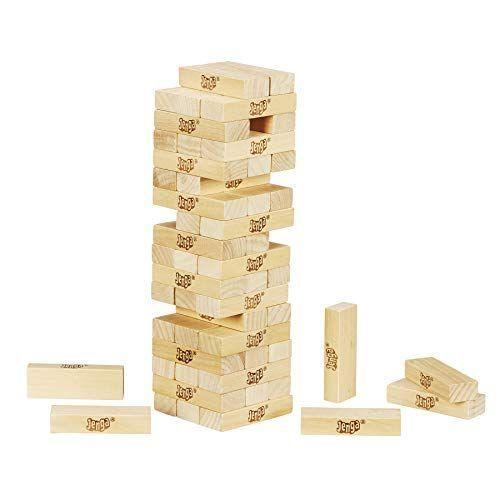 "<p><strong>Jenga</strong></p><p>amazon.com</p><p><a href=""https://www.amazon.com/dp/B010TKQZJA?tag=syn-yahoo-20&ascsubtag=%5Bartid%7C2089.g.985%5Bsrc%7Cyahoo-us"" rel=""nofollow noopener"" target=""_blank"" data-ylk=""slk:Shop Now"" class=""link rapid-noclick-resp"">Shop Now</a></p><p><strong><del>$14.99</del> $12.97 (13% off)</strong></p><p>This game needs no explanation — just a space in your game closet. Jenga is such a blast, and if you think it's too simple to get excited over, just wait until your adrenaline starts rushing at the tug of each block. This set includes 54 hardwood Jenga blocks.</p>"