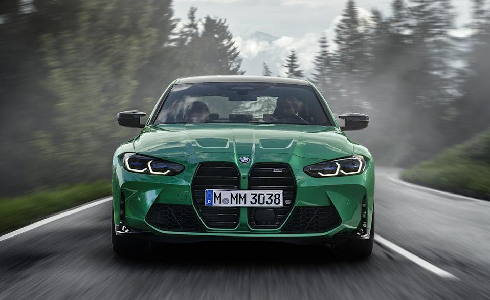 """<p>New year, new <a href=""""https://www.caranddriver.com/bmw/m3"""" rel=""""nofollow noopener"""" target=""""_blank"""" data-ylk=""""slk:M3"""" class=""""link rapid-noclick-resp"""">M3</a>. Every BMW M3 since the original E30 has been available with a manual gearbox. Thankfully BMW has decided to keep that streak alive. Like its mechanical twin, the M4 Coupe, the high-performance sedan is also available with a six-speed manual. Two models are available, the standard 473-hp and the 503-hp M3 Competition.</p>"""