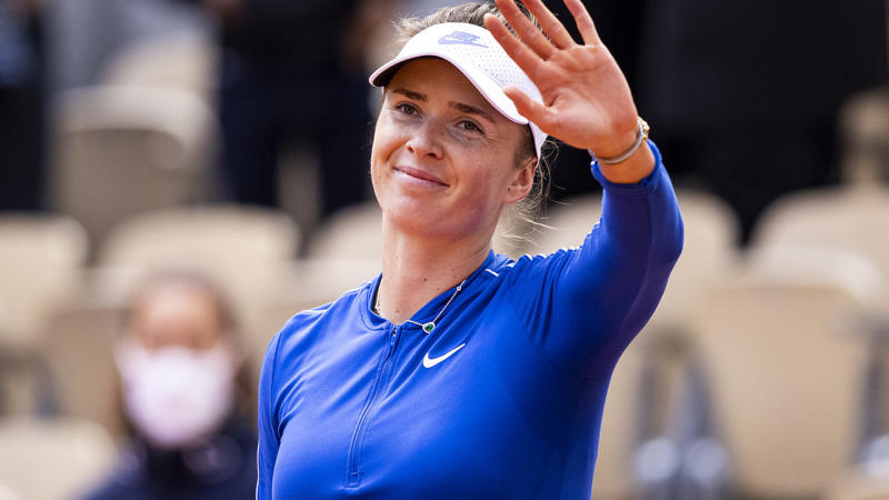 Elina Svitolina, pictured here celebrating her victory over Caroline Garcia at the French Open.