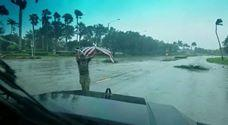 """<p>As first-responders moved through the streets of Coral Springs, Florida, in the immediate aftermath of Hurricane Irma, one officer stopped to pick up a fallen American flag.</p><p>This video, posted by the Coral Springs Police on the timely date of September 11, shows 42-year-old Joseph Schiavo, a <span class=""""caps"""">SWAT</span> medic working for the Coral Springs Fire Department. He told <a href=""""http://abcnews.go.com/US/hurricane-irma-responder-stops-pick-fallen-flag-moving/story?id=49776910"""" target=""""_blank""""><span class=""""caps"""">ABC</span> News</a> that it was """"an honorable thing to do"""" and """"it would be a disgrace to let that lay on the ground.""""</p><p>Schiavo was part of a group of officers, firefighters and medics helping with the recover effort in Coral Springs after Irma swept through the region over the weekend of September 9. Credit: Coral Springs Police via Storyful</p>"""