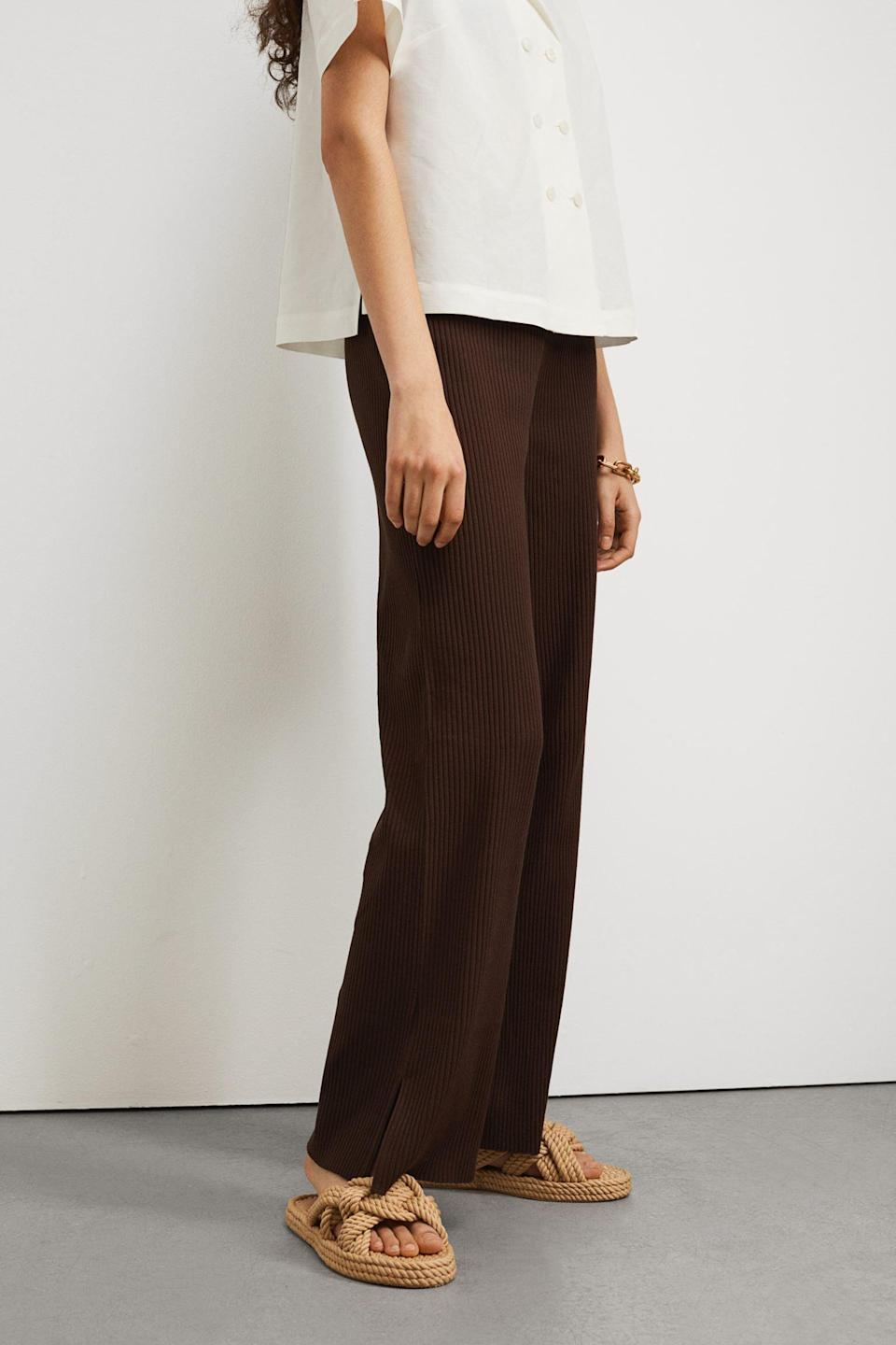 <p>You'll spend your week and weekend in these <span>Ribbed Pants</span> ($18).</p>