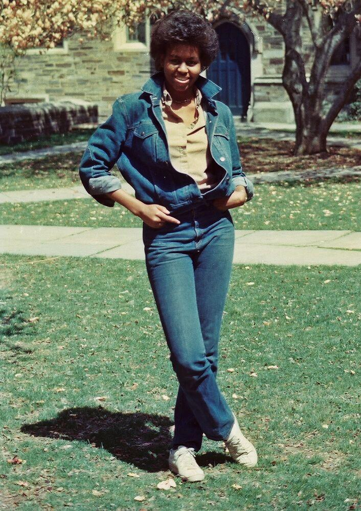 Former First Lady Michelle Obama in 1983 | Kenny Bruce