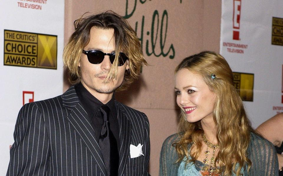 Johnny Depp with his ex-wife Vanessa Paradis in 2004 - Jim Ruymen/Reuters