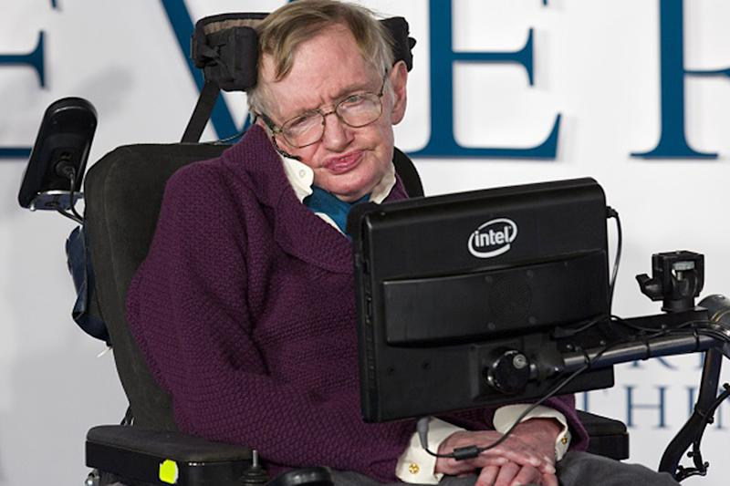 Professor Stephen Hawking appealed to swimmers to get involved: JUSTIN TALLIS/AFP/Getty Images