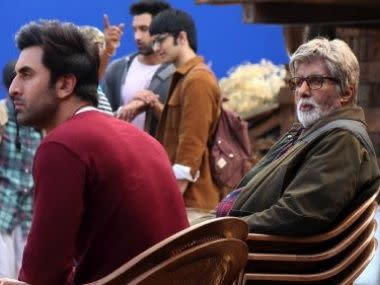 Amitabh Bachchan shares behind-the-scene images with Ranbir Kapoor from sets of Brahmastra
