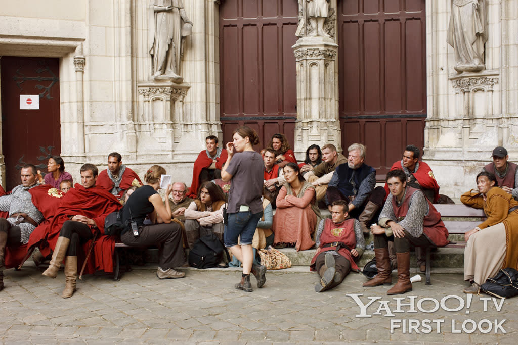 Chateau Pierrefonds became a sometimes perplexing, always interesting mix of old and new when crew and actors got together.
