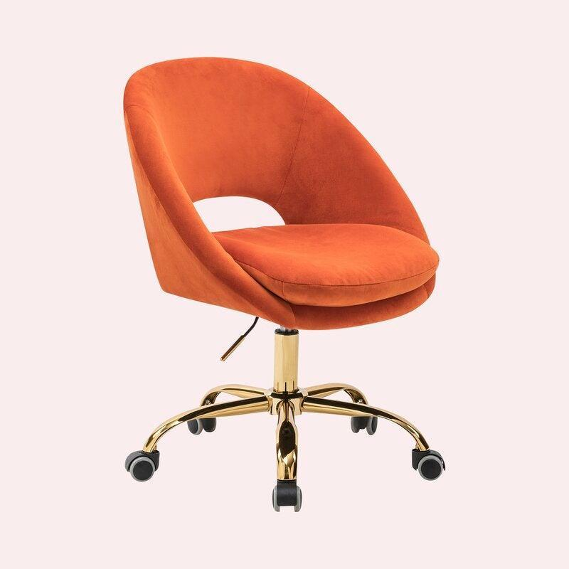 """<h3>Kelly Clarkson Home Lourdes Velvet Task Chair</h3> <br><strong>Best For: Extra-Cush</strong><br>This vibrant retro-style task chair is ready to make an eye-catching statement in your space while also offering super-comfy support to your butt with a little extra velvety cushioning built into the seat.<br><br><strong>The Hype: </strong>4.7 out of 5 stars and 902 reviews on <a href=""""https://www.wayfair.com/furniture/pdp/kelly-clarkson-home-lourdes-velvet-task-chair-w003317863.html"""" rel=""""nofollow noopener"""" target=""""_blank"""" data-ylk=""""slk:Wayfair"""" class=""""link rapid-noclick-resp"""">Wayfair</a><br><br><strong>Comfy Butts Say:</strong> """"The velvet is very soft to the touch and I have had no issues sitting on the chair for 4-5 hours at a time. I also like that the back is slightly angled back. On top of all of that, the chair took less than 5 minutes to assemble! You just need to pop on the wheels, screw the seat on, and then slide the rest into place. I would definitely recommend making the purchase if you have been thinking about it."""" and """"This chair is beyond great! I'm always a little hesitant ordering chairs online because of the comfort issue, but I'm so glad I bit the bullet and ordered this one. The color is exactly like the color you see online. Very well made, packed, and easy to put together. Shipping and handling were marvelous. And that comfort factor that I was worried about? It's beyond what I expected. Super comfortable, even while sitting for long periods of time. So very happy with my purchase.""""<br><br><strong>Kelly Clarkson Home</strong> Lourdes Velvet Task Chair, $, available at <a href=""""https://go.skimresources.com/?id=30283X879131&url=https%3A%2F%2Fwww.wayfair.com%2Ffurniture%2Fpdp%2Fkelly-clarkson-home-lourdes-velvet-task-chair-w003317863.html"""" rel=""""nofollow noopener"""" target=""""_blank"""" data-ylk=""""slk:Wayfair"""" class=""""link rapid-noclick-resp"""">Wayfair</a><br><br><br><br><br><br>"""