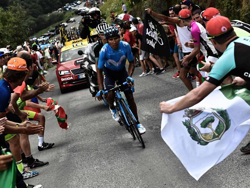 Nairo Quintana won Stage 17 of the Tour (AFP/Getty Images)