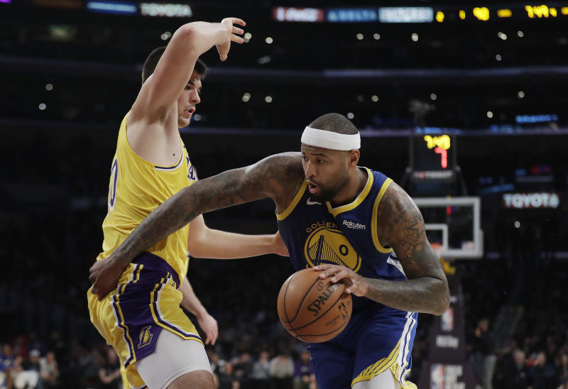 Golden State Warriors  DeMarcus Cousins returned to the court last weekend  after nearly a full year of rehab. (AP Photo Marcio Jose Sanchez) a76b7b282