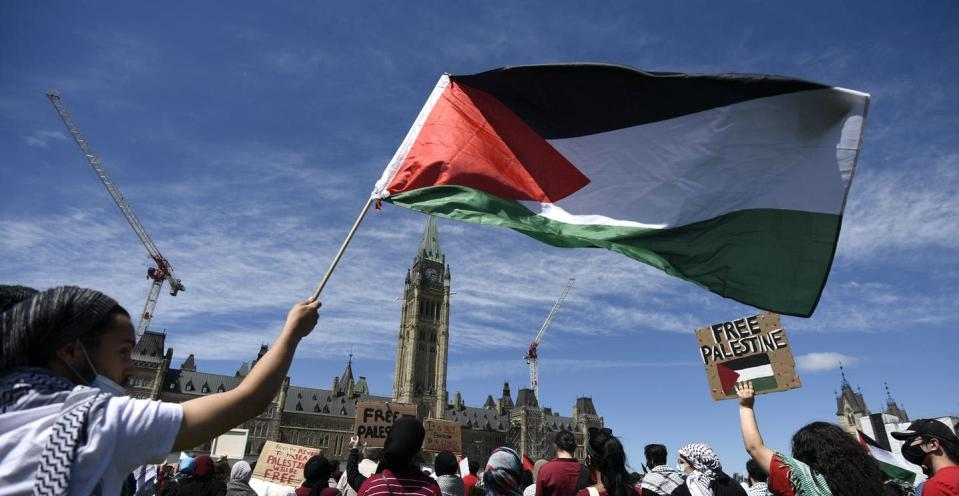 """<span class=""""caption"""">Those speaking out for Palestinian human rights continue to be sidelined and silenced in Canadian institutions. </span> <span class=""""attribution""""><span class=""""source"""">THE CANADIAN PRESS/Justin Tang </span></span>"""