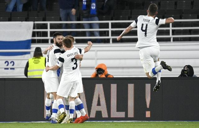 Finland struck in the 66th minute