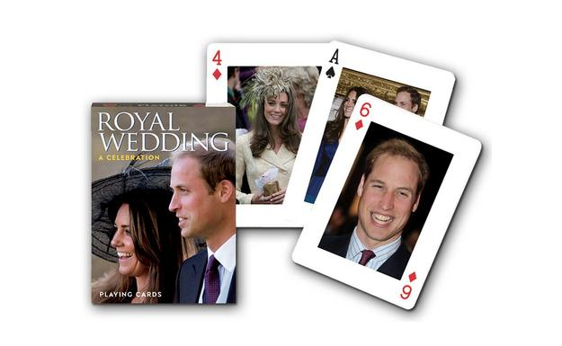 "<div class=""caption-credit""> Photo by: amazon.com</div><div class=""caption-title""></div><p>   <a rel=""nofollow"" href=""http://www.amazon.com/Gibsons-Royal-Wedding-Playing-Cards/dp/B004JHY326/ref=sr_1_cc_2?s=aps&ie=UTF8&qid=1334679716&sr=1-2-catcorr"">Souvenir playing cards?</a> Solitaire feels less lonely when you're look at the Duke and Duchess. $10. </p>"