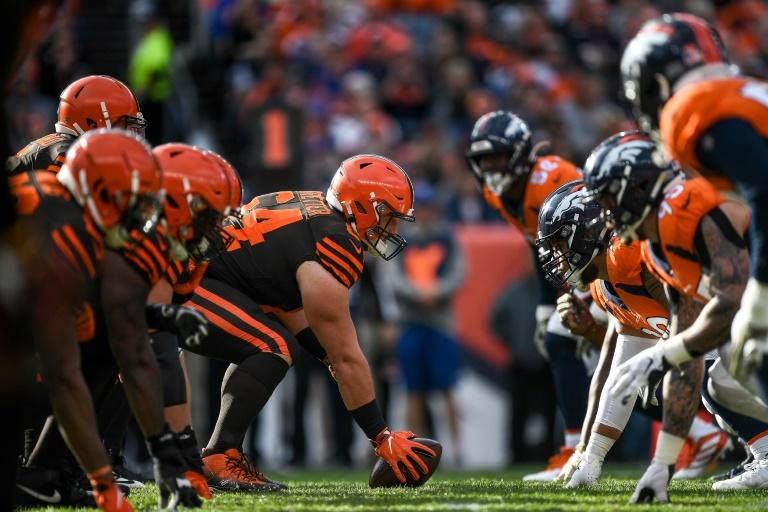 Cleveland Browns center and NFL Players Association president J.C. Tretter, middle, says players have major concerns about pre-season plans by the league after a coronavirus pandemic impacted off-season