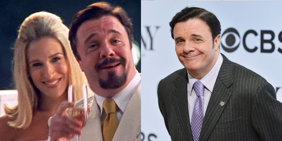 <p>In season 5, Nathan plays Carrie's longtime friend and lounge singer, who—she is shocked to learn—is in fact not gay and plans to marry socialite Bitsy von Muffling in an extravagant Hamptons wedding. Nathan is a big-screen legend, having starred in countless films, including <em>The Birdcage</em> alongside Robin Williams. </p>