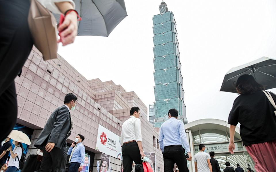 Taiwan has been praised for its robust response to the pandemic - I-Hwa Cheng/Bloomberg