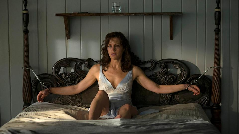 <p> Directed by Mike Flanagan (The Haunting of Hill House&#xA0;and&#xA0;Doctor Sleep), Gerald&#x2019;s Game is a thriller with a twist: the protagonist is handcuffed to a bed for almost the entire movie. Carla Gugino and Bruce Greenwood play a couple who rent a secluded cabin to spice up their marriage. Shortly after handcuffing Gugino&#x2019;s Jessie to the bed as part of a sex game, Gerald suddenly dies. Tied to the very sturdy bed, and with no one else close enough to hear her cries for help, Jessie faces a fight to survive. </p> <p> Claustrophobic thrillers like this can often be hit-and-miss, but this one&#x2019;s in the former category. It&#x2019;s led almost entirely by Gugino&#x2019;s intense performance, with the ever-classy Greenwood pretty much the only other cast member. The quality of acting elevates a well-executed genre movie.&#xA0; </p>