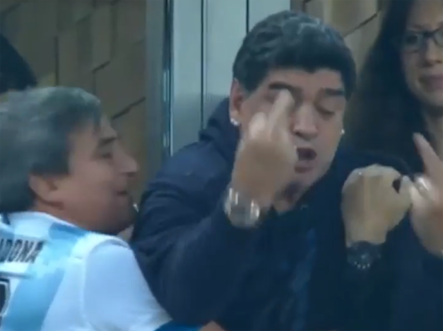 World Cup 2018: Gary Lineker brands Diego Maradona a 'laughing stock' after middle finger celebration