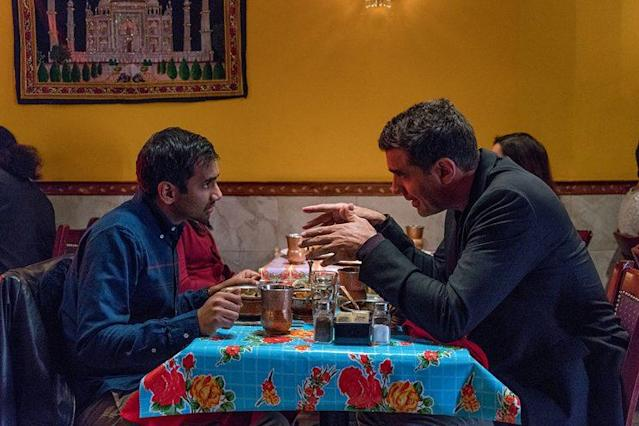Aziz Ansari as Dev Shah and and Bobby Cannavale as Chef Jeff in Netflix's 'Master of None' (Photo: Netflix)