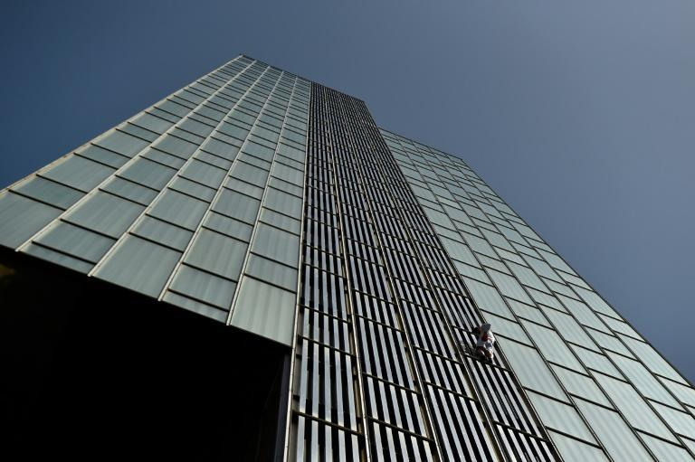 George King, 21, scaled the 120-metre (400-foot) Melia Barcelona Sky hotel without safety gear
