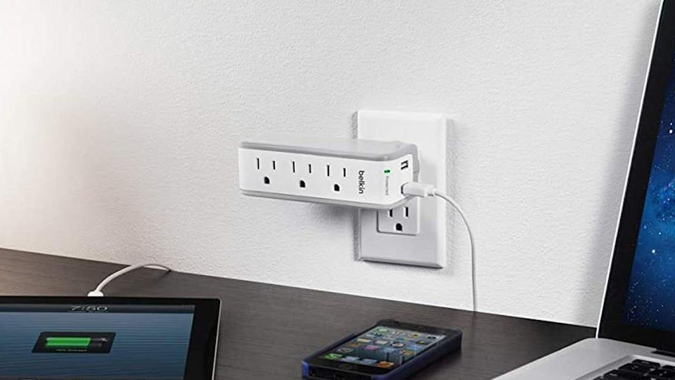 This three-outlet wall splitter is one of many Belkin products you can get on sale today.
