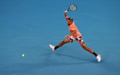 Kyrgios earns the break in the second set - Credit: REUTERS