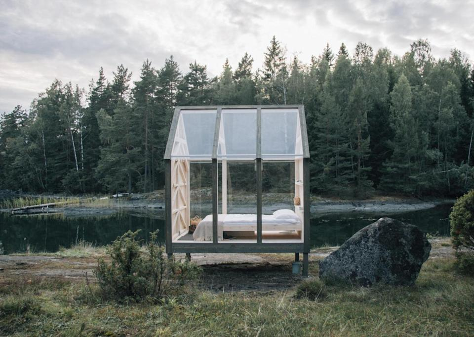 Glass cabins in Sweden