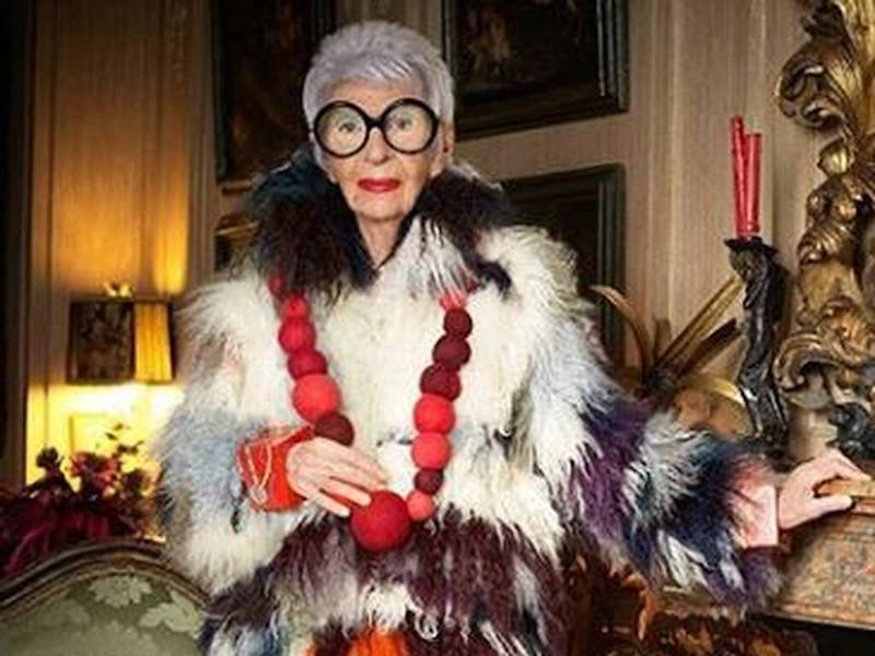 Iris Apfel's new colouring book raising funds for fashion students