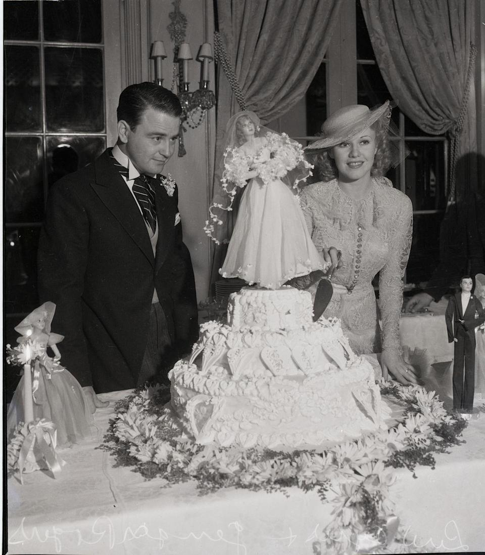 <p>Ginger Rogers and Lew Ayres met while both acting in the movie <em>Don't Bet on Love</em> in 1933. They sealed the deal on November 14 but separated after less than two years. Four years later, in 1940, Rogers finalized the divorce.</p>