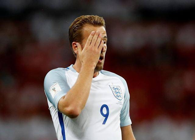 <p>Soccer Football – 2018 World Cup Qualifications – Europe – England vs Slovakia – London, Britain – September 4, 2017 England's Harry Kane reacts Action Images via Reuters/Carl Recine </p>