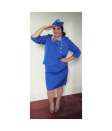 """<p>Jet off to the Halloween party as a retro flight attendant. All you need to earn your wings is a blue skirt suit, a scarf, and a DIY hat. </p><p><a class=""""link rapid-noclick-resp"""" href=""""https://www.amazon.com/Roamans-Womens-Two-Piece-Shawl-Collar-Jacket/dp/B082RHWL96?tag=syn-yahoo-20&ascsubtag=%5Bartid%7C10072.g.28615520%5Bsrc%7Cyahoo-us"""" rel=""""nofollow noopener"""" target=""""_blank"""" data-ylk=""""slk:SHOP THE SUIT"""">SHOP THE SUIT</a></p>"""