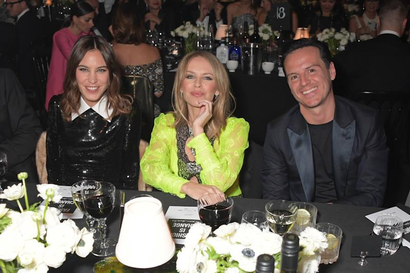 Alexa Chung, Kylie Minogue and Andrew Scott (Dave Benett)