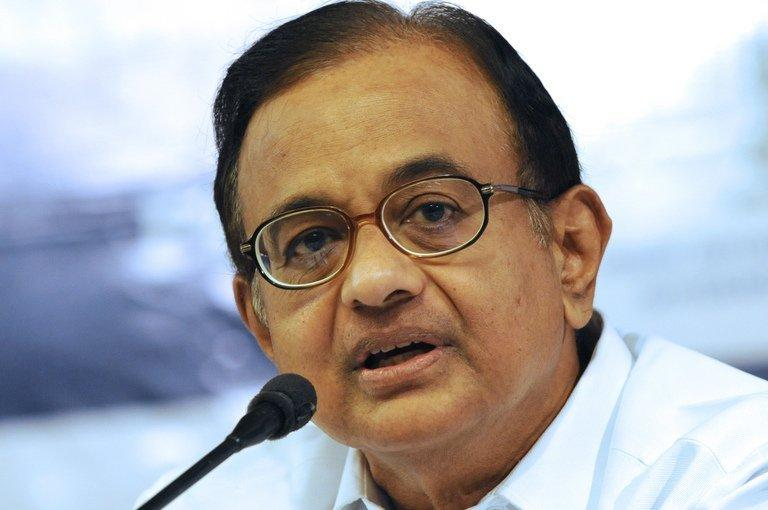 P. Chidambaram, now India's finance minister, speaks with Gujarat media representatives in Ahmedabad on June 13, 2012