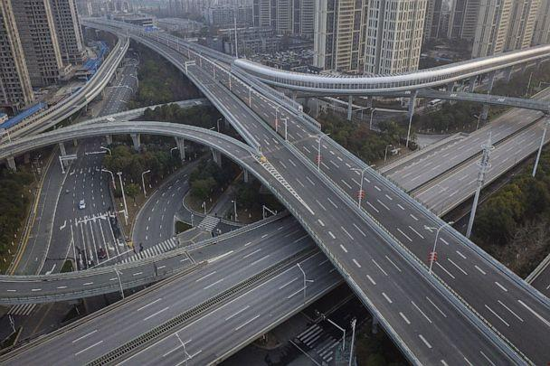 PHOTO: An aerial view of the roads and bridges are seen in Wuhan, Hubei province, China, Feb. 3, 2020. (Stringer/Getty Images)