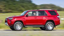 """<p>Number 5: <strong>Toyota 4Runner</strong><br> Average 5-year depreciation percentage: <strong>36.5%</strong></p> <p>Toyota enjoys a stellar and well-earned reputation for reliability. That's a big reason why three of the top five vehicles on this list of cars that depreciate the least wear Toyota badges. Unlike most of its crossover competitors, the 4Runner is a rough-and-tumble sport utility vehicle that durability and off-road capability over refinement and on-road manners. The fact that it stands out as different might be a benefit on the second-hand market.</p> <p>""""Since its release in 1984 the 4Runner has amassed a loyal following, and its ruggedness and reputation for being a reliable vehicle help contribute to its value retention,"""" said Ly.</p>"""
