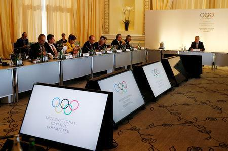Thomas Bach, President of the International Olympic Committee (IOC), opens the Executive Board meeting in Lausanne, Switzerland, March 26, 2019. REUTERS/Denis Balibouse