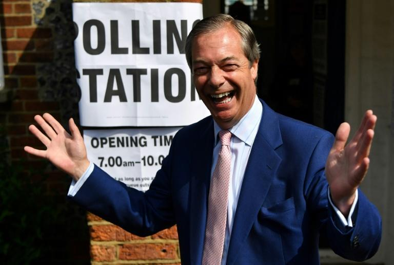 Polls suggest the Brexit Party of Nigel Farage, one of the highest profile eurosceptics in the European Parliament, was leading the race for seats in an election Britain did not expect to take part in after the 2016 Brexit vote
