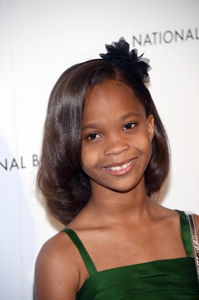 NEW YORK, NY - JANUARY 08:  Actress Quvenzhane Wallis attends the 2013 National Board Of Review Awards Gala at Cipriani 42nd Street on January 8, 2013 in New York City.  (Photo by Stephen Lovekin/Getty Images)