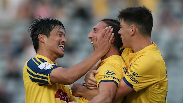 Giancarlo Gallifuoco scored as A-League strugglers Central Coast Mariners defeated Western United 1-0, ending a long wait for a clean sheet.