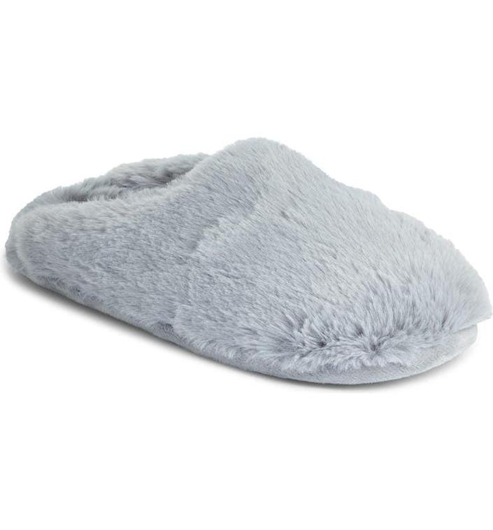 <p>They'll love wearing these cozy <span>Caslon Celia Scuff Slippers</span> ($30).</p>