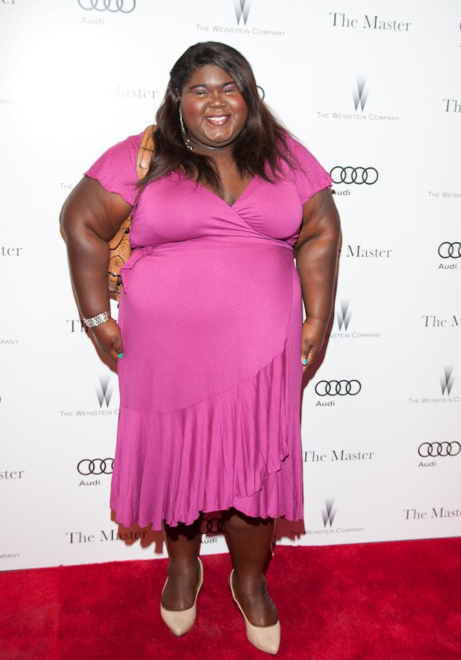 """NEW YORK, NY - SEPTEMBER 11:  Actress Gabourey Sidibe attends """"The Master"""" New York Premiere at Ziegfeld Theatre on September 11, 2012 in New York City.  (Photo by Dave Kotinsky/Getty Images)"""