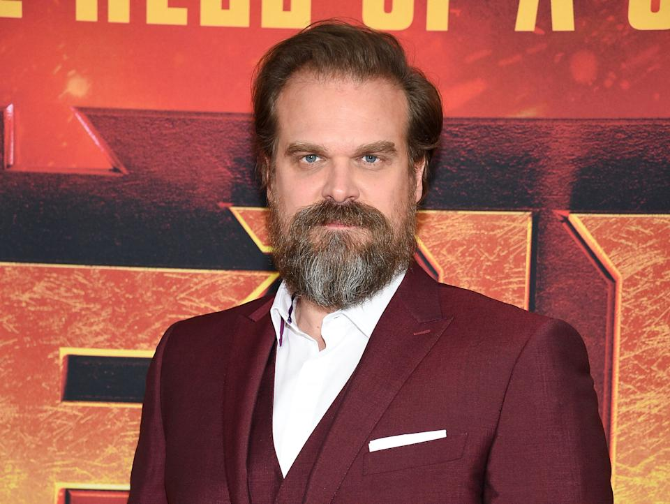 "Actor David Harbour attends a special screening of ""Hellboy"" at AMC Lincoln Square on Tuesday, April 9, 2019, in New York. (Photo by Evan Agostini/Invision/AP)"