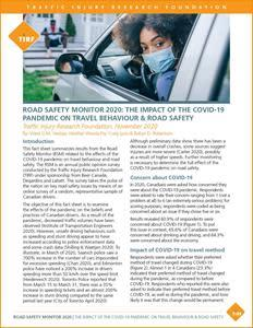 See link in press release to download Road Safety Monitor 2020: The Impact of the COVID-19 Pandemic on Travel Behaviour & Road Safety