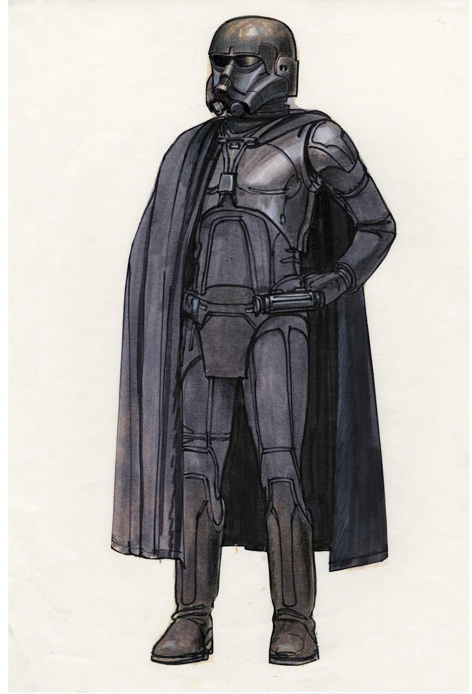<p>Lucas and his acolytes frequently repurposed unused McQuarrie concepts for later projects. The Death Trooper from the upcoming 'Rogue One,' directed by McQuarrie fan Gareth Edwards, takes a cue from this Sith Lord. </p>