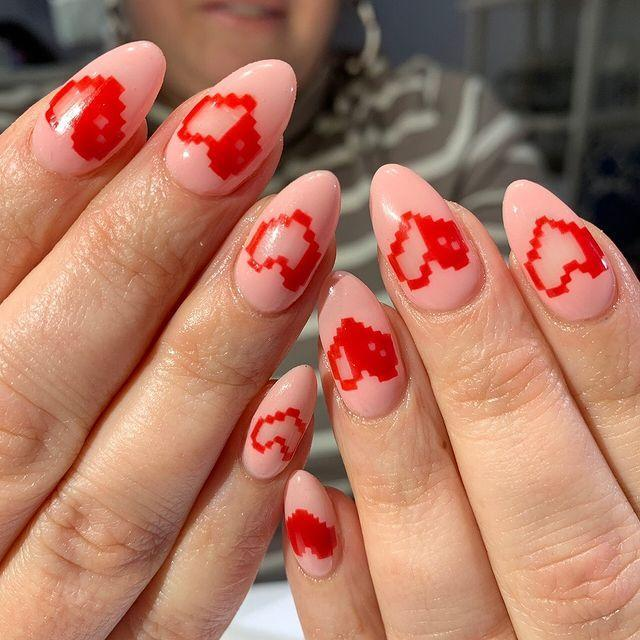 """<p>We're obsessed with this pixelated heart design by Vanity Projects.</p><p><a href=""""https://www.instagram.com/p/Btby1m-ldjv/"""" rel=""""nofollow noopener"""" target=""""_blank"""" data-ylk=""""slk:See the original post on Instagram"""" class=""""link rapid-noclick-resp"""">See the original post on Instagram</a></p>"""