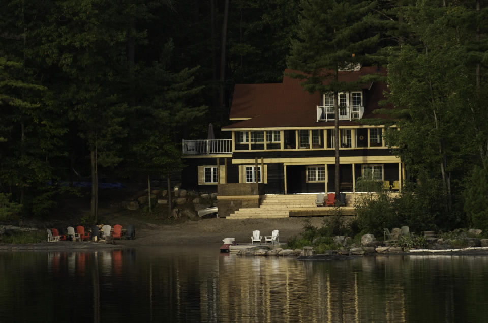 An elegant Muskoka cottage from the waterfront